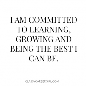 I am committed to learning