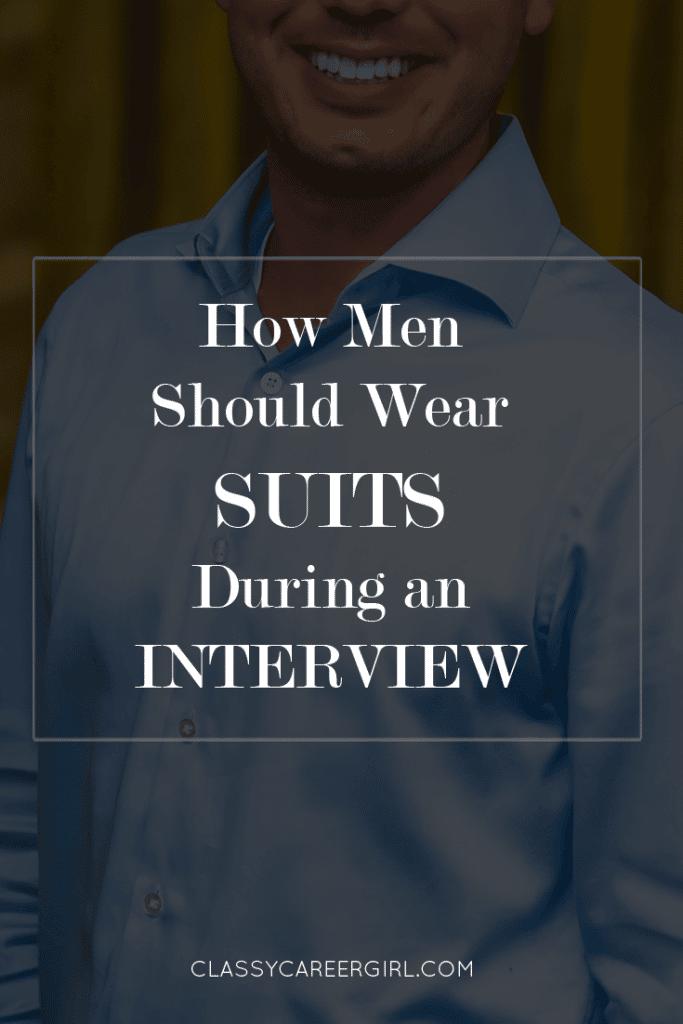 Button a Suit Jacket for a Job Interview