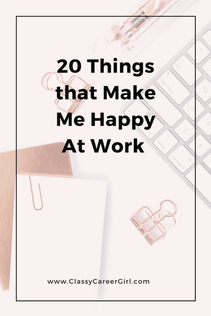 20 Things that Make Me Happy A...