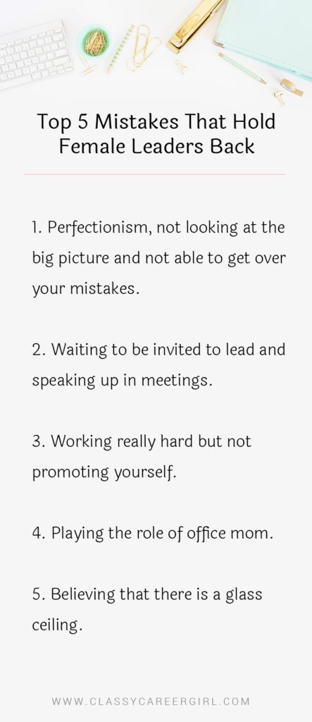 The Top 5 Mistakes That Hold Female Leaders Back list