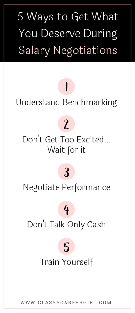 5 Ways to Get What You Deserve During Salary Negotiations list
