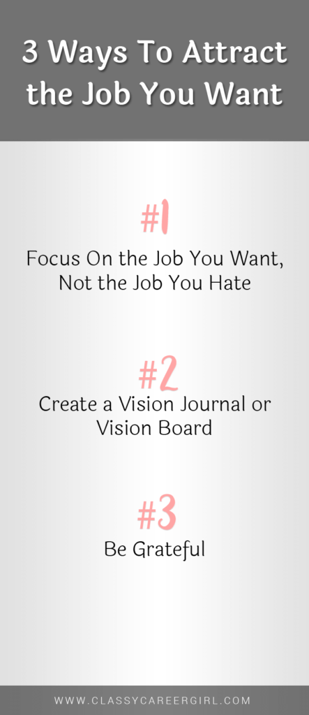 3 Ways To Attract the Job You Want list