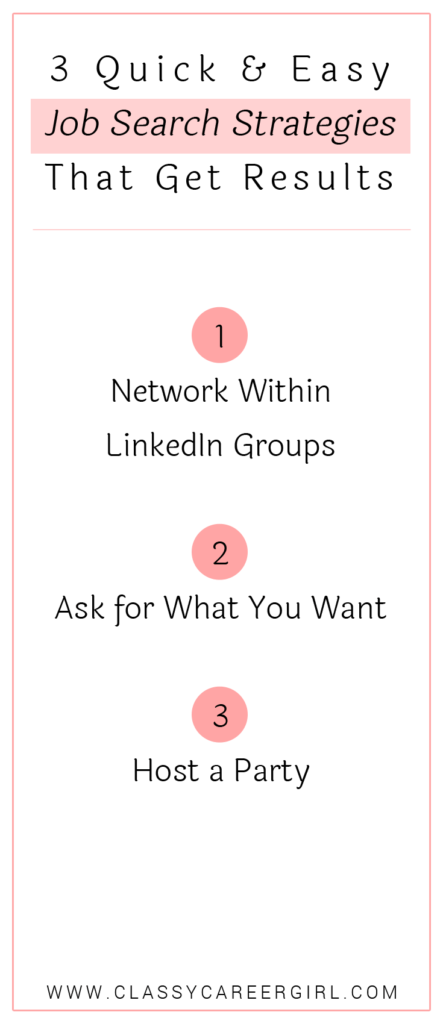 3 Quick & Easy Job Search Strategies That Get Results list