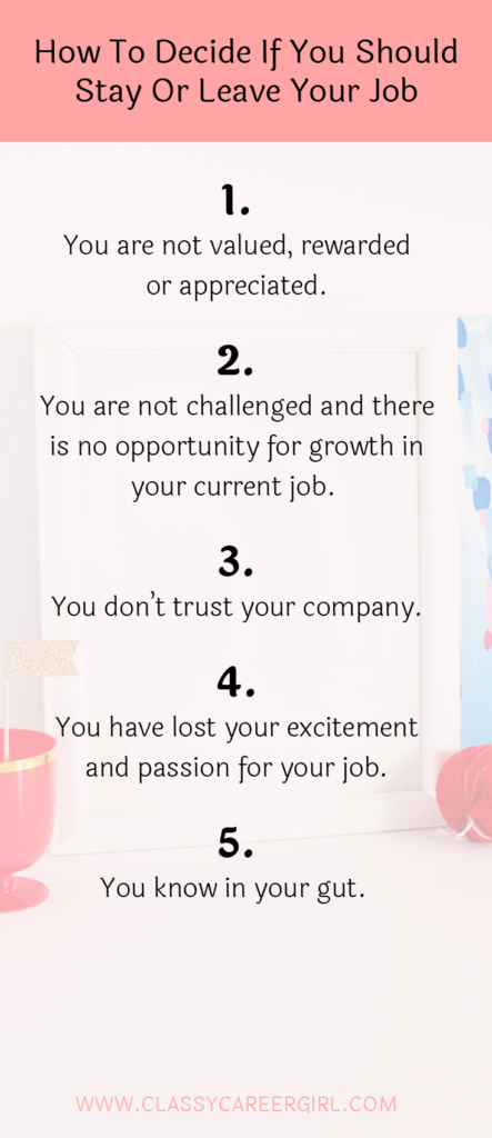 How To Decide If You Should Stay Or Leave Your Job