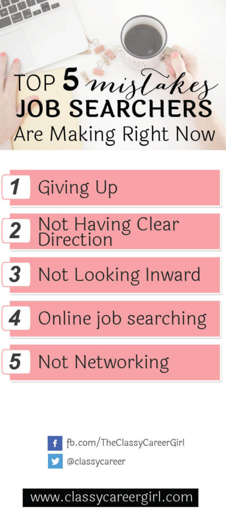The Top 5 Mistakes Job Searchers Are Making Right Now