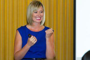 Anna at event Career success principles