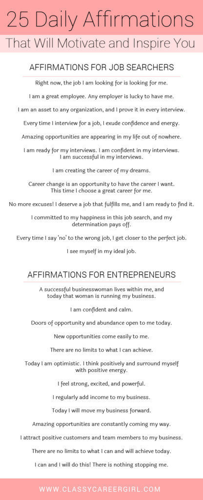 25 Daily Affirmations That Will Motivate and Inspire You