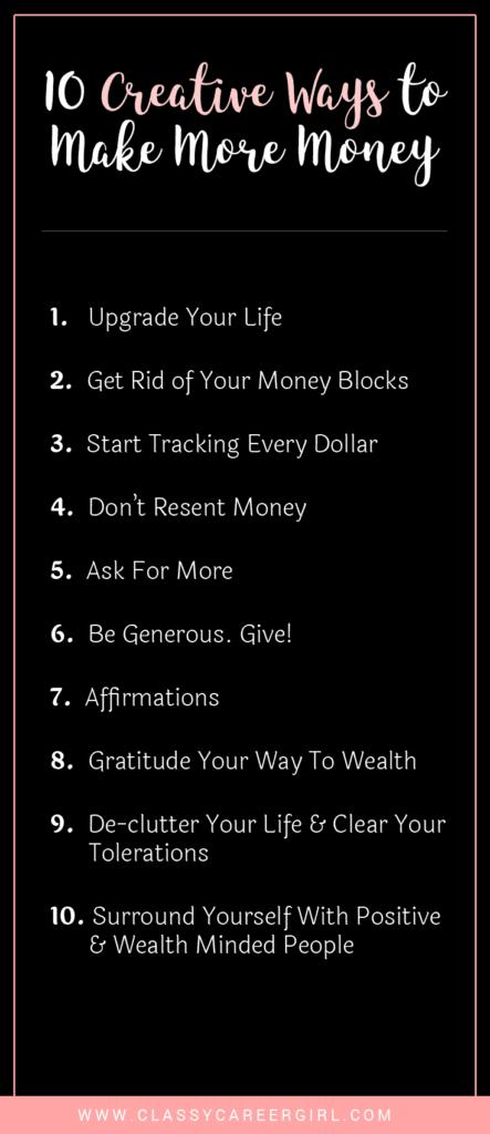 10 Creative Ways To Make More Money List