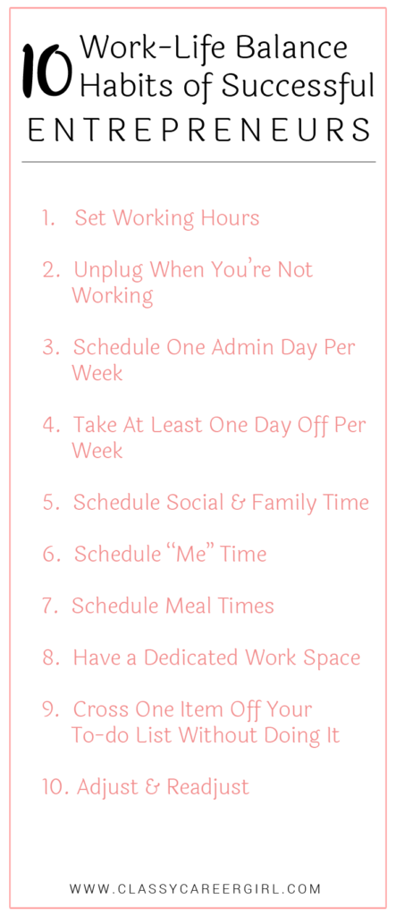 10 Work-Life Balance Habits of Successful Entrepreneurs