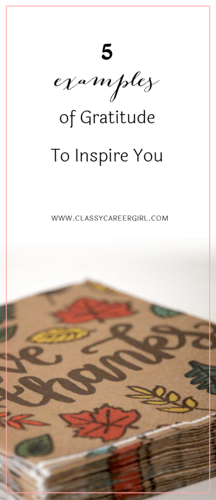 5 Examples of Gratitude To Inspire You