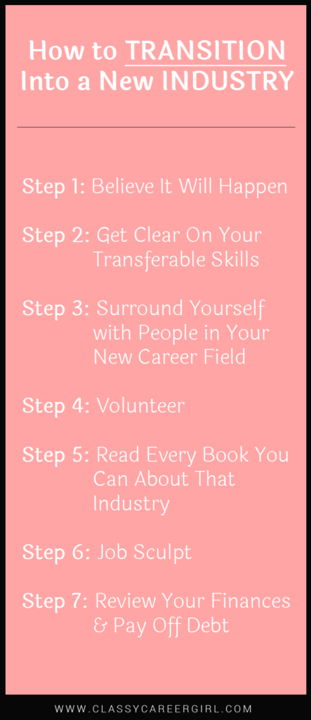 How to Transition Into a New Industry list