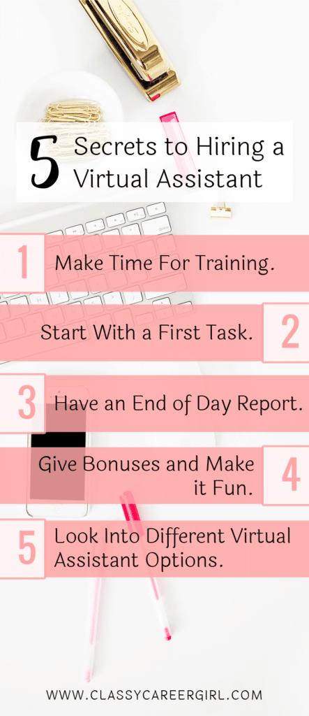 5 Secrets to Hiring a Virtual Assistant