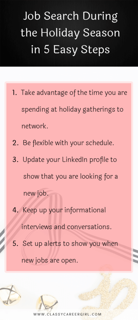 Job Search During the Holiday Season in 5 Easy Steps - list