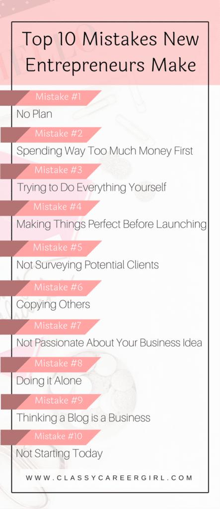 The Top 10 Mistakes New Entrepreneurs Make
