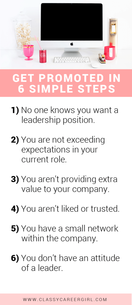 Get Promoted in 6 Simple Steps list