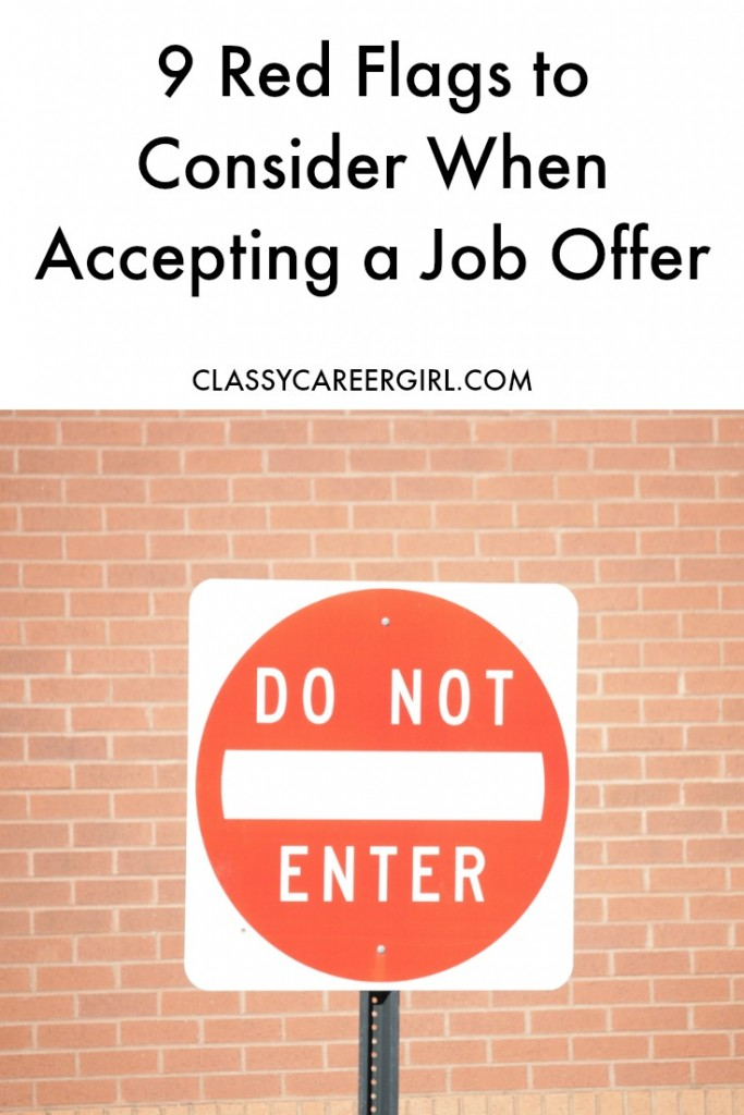 Red Flags To Consider When Accepting A Job Offer  Classy Career Girl