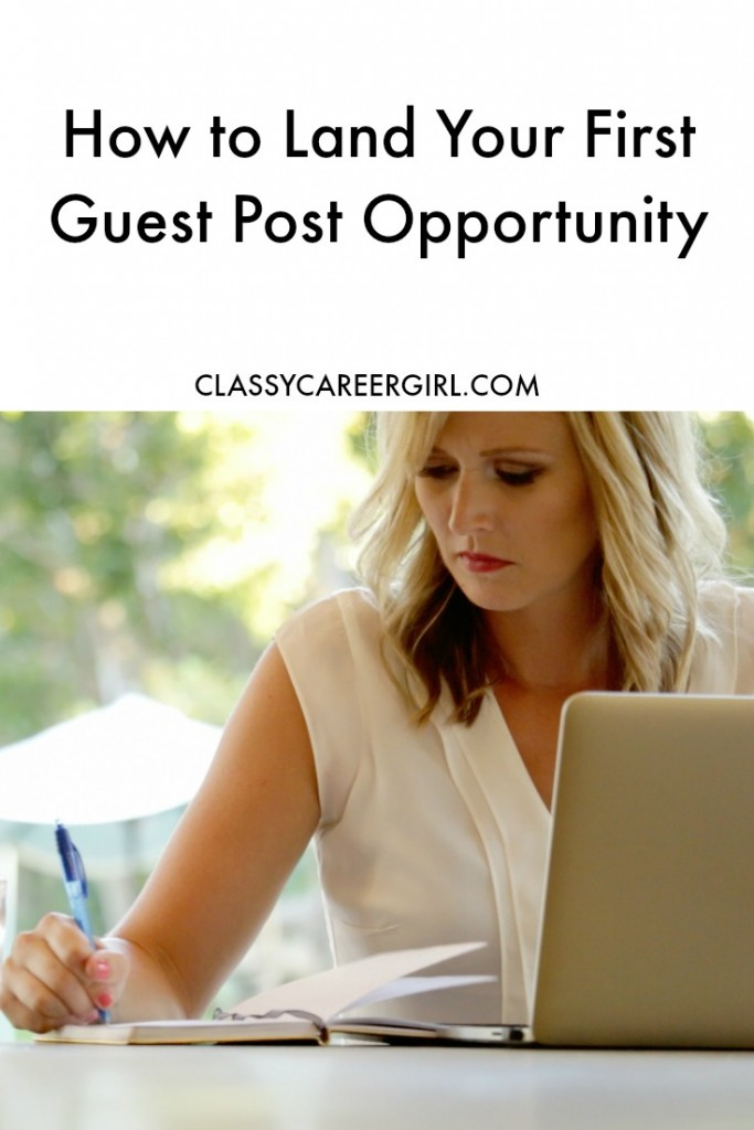 How to Land Your First Guest Post Opportunity