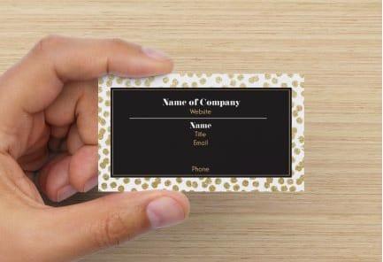 Polka dot business cards