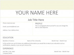 beige resume templates