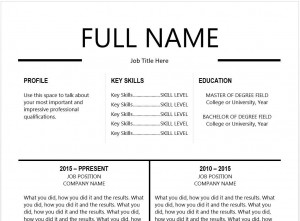 Resume Templates Black