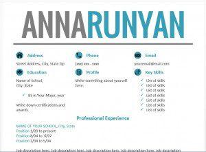 Blue Resume Templates