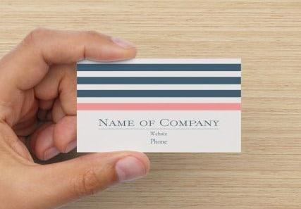 Stripes Business Cards Design