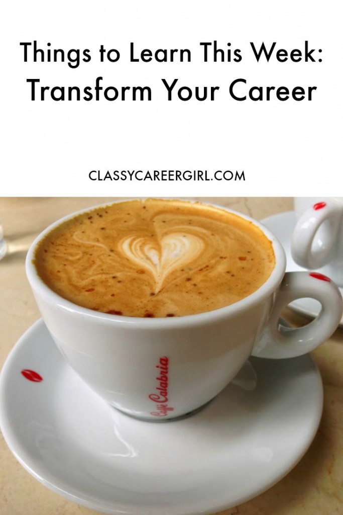 Things to Learn This Week Transform Your Career