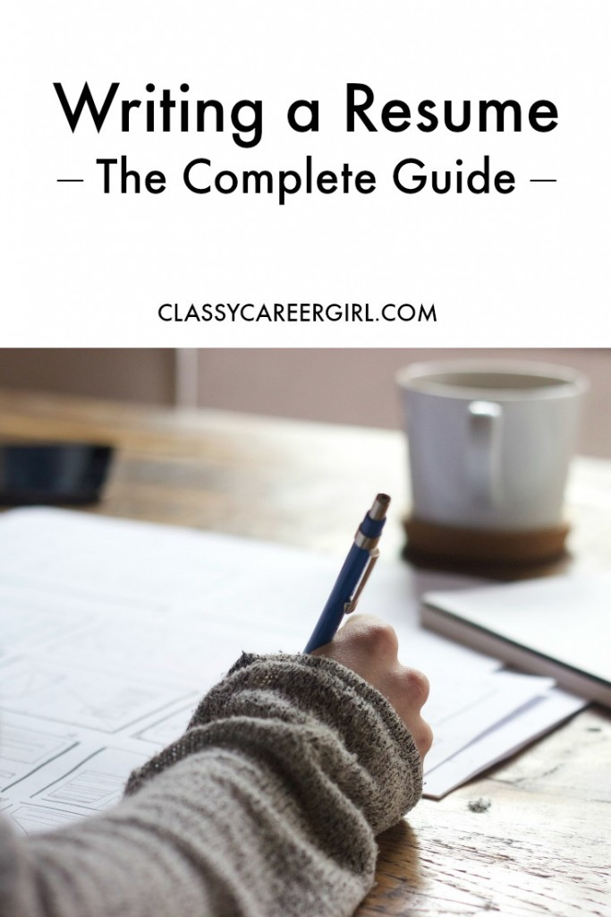 The complete guide to resume writing