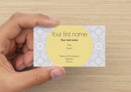 Yellow and Gray Business Cards