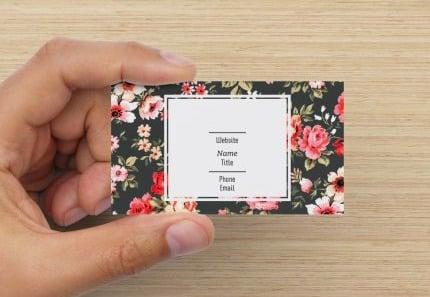 floral business cards design