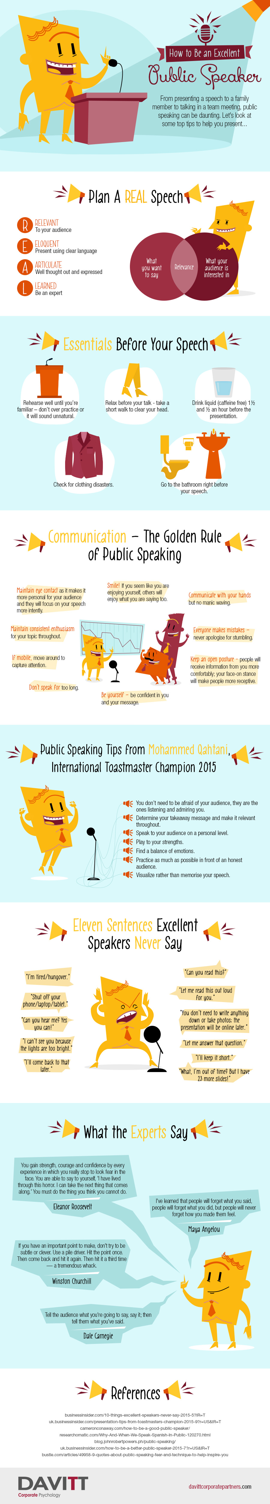 how to be an excellent public speaker