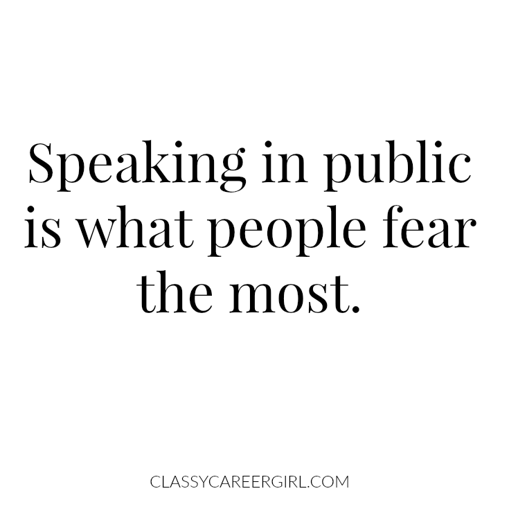 speaking in public is what people fear the most