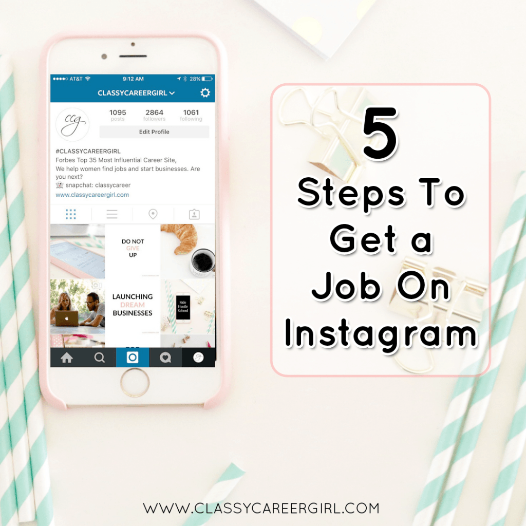 5 Steps To Get a Job On Instagram