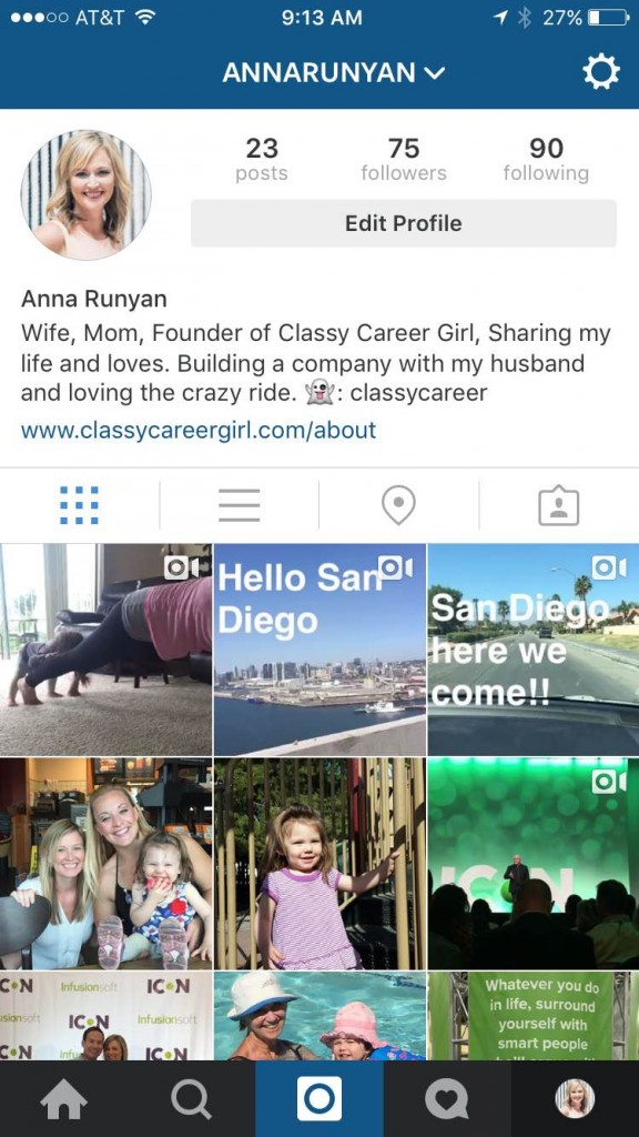 Instagram bio how to get a job