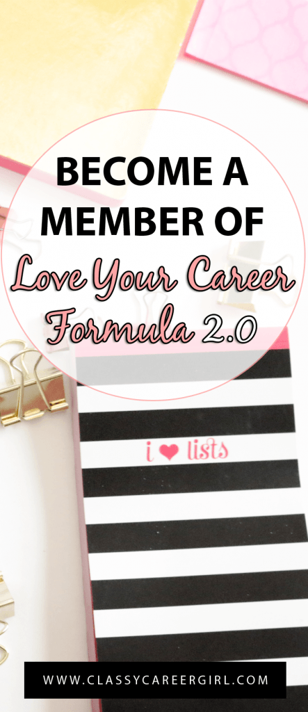 Become a Member of Love Your Career Formula