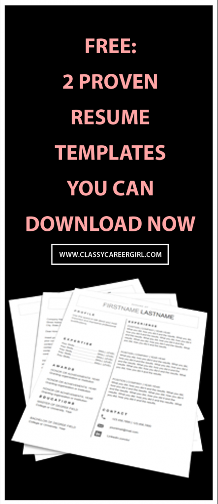 2 Proven Resume Templates You Can Download Now