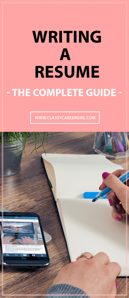 writing a resume - the complete guide