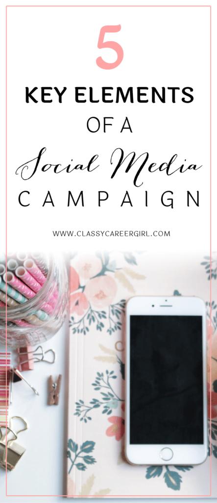 5 Key Elements of a Social Media Campaign