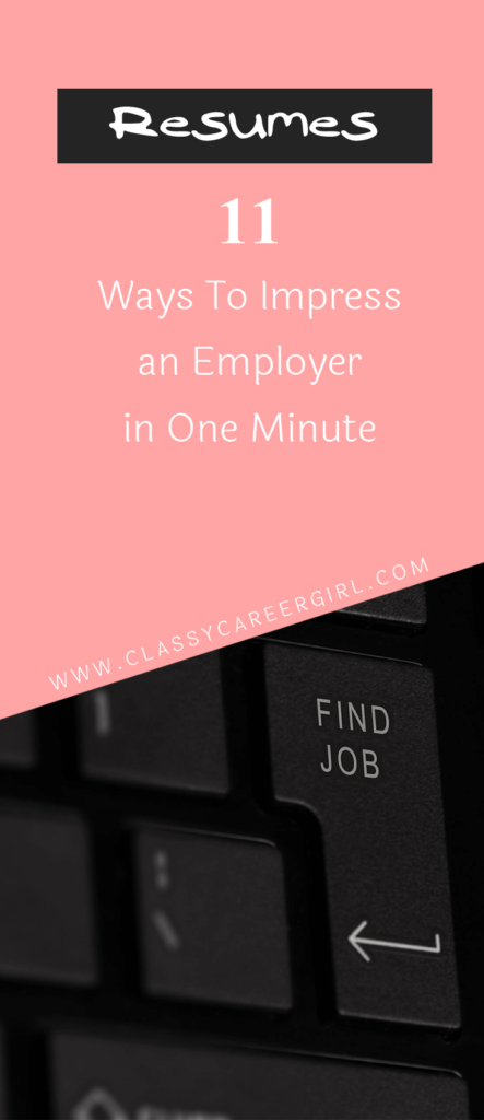 11 Ways To Impress an Employer in One Minute