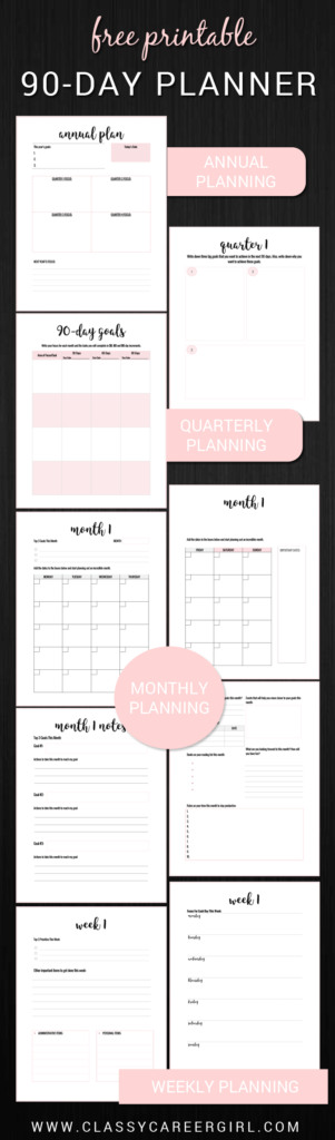 Download 2017 planner classy career girl 2017 planner malvernweather Choice Image