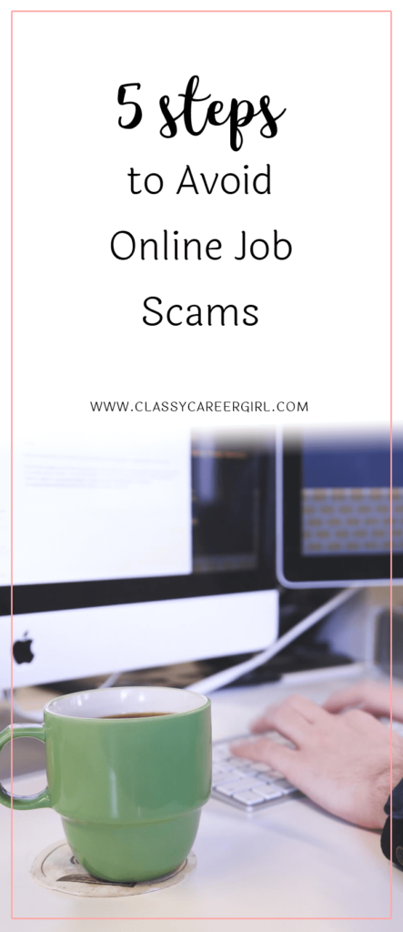 5 Steps to Avoid Online Job Scams