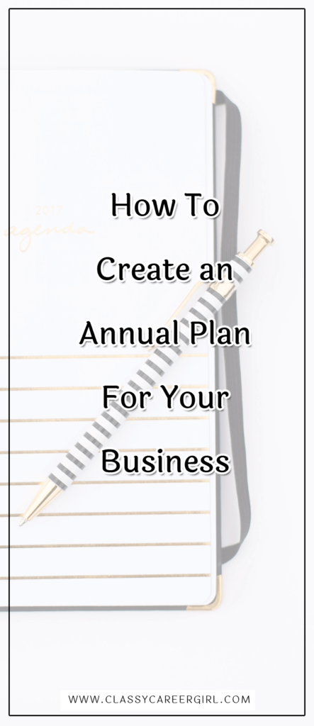 How To Create an Annual Plan For Your Business