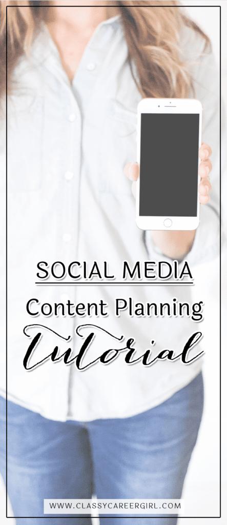 Social Media Content Planning Tutorial