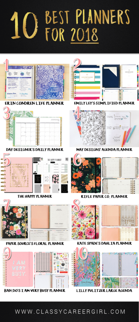 10 Best Planners of 2018