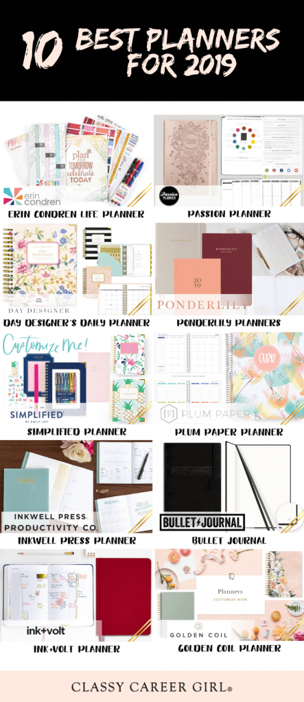 photo about Design Your Day known as 10 Great Planners for 2019 - Cly Vocation Female