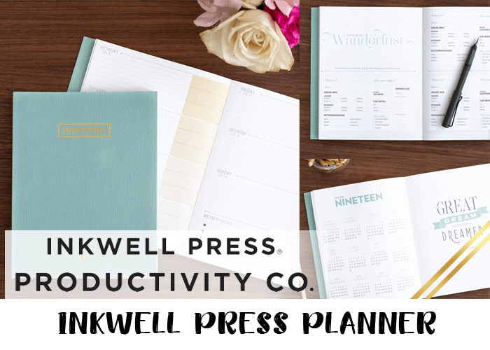2019 planner - Inkwell press
