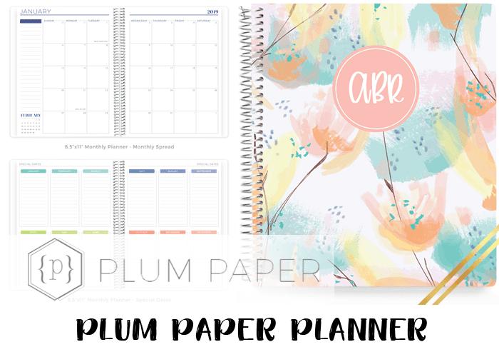 2019 planner - plum paper