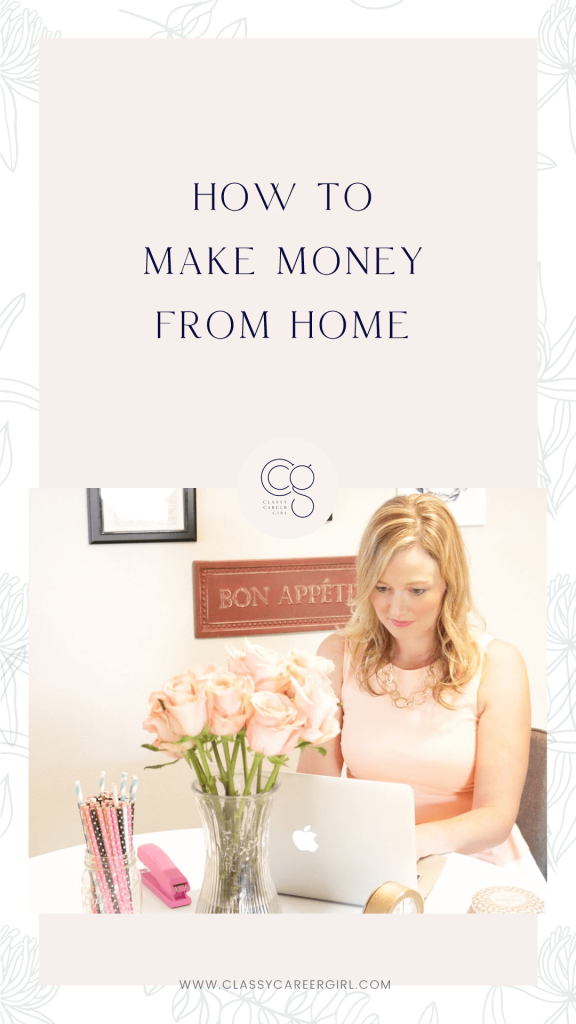 How to make money working from home Pin photo