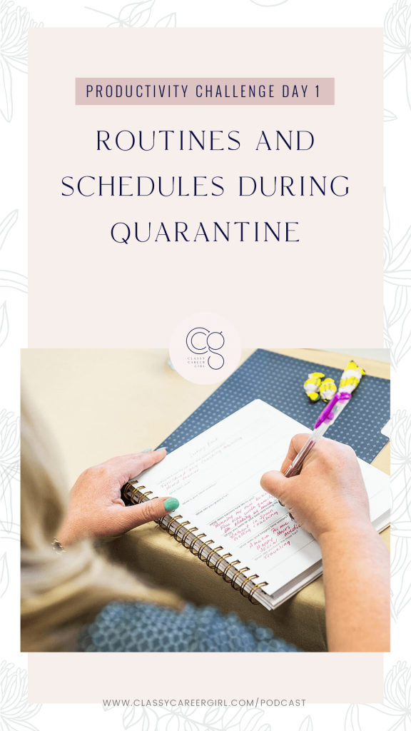 Routines and Schedules During Quarantine Pinteret Image