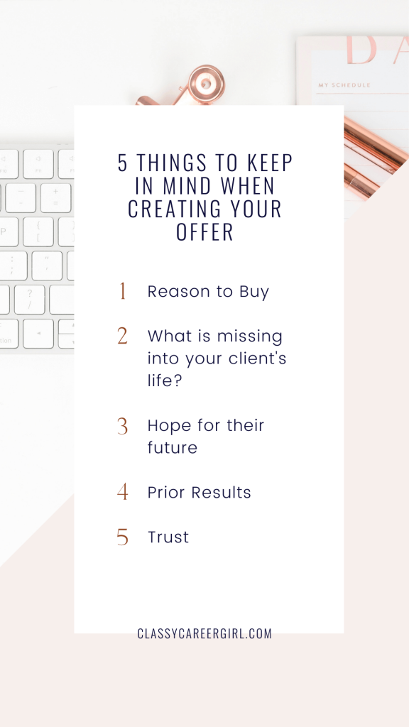5 Things To Keep In Mind When Creating Your Offer